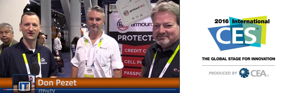Armourcard featured on iTProTV at CES 2016